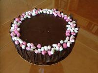 עוגת שוקולד ומוס שוקולד