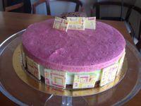 עוגת גבינה, מוס פיסטוק ומוס פטל