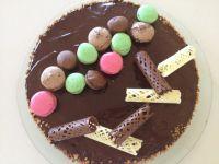 עוגת מוסים שוקולד חגיגית